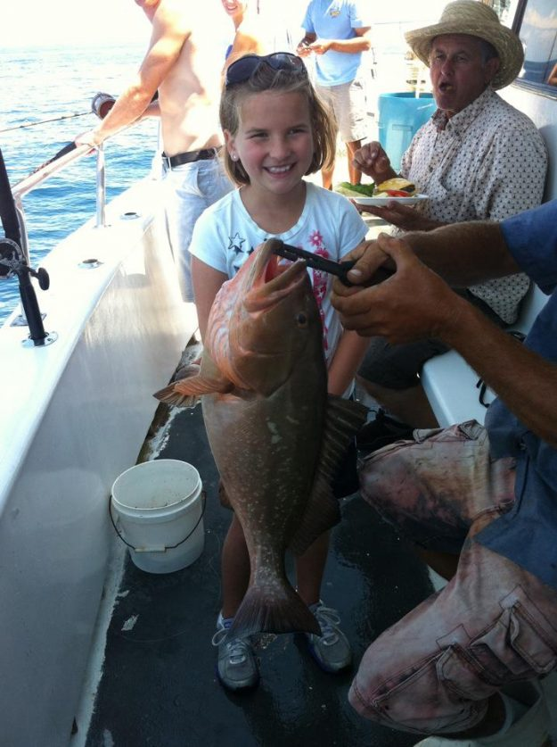 deep sea fishing family charter boat