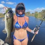 kimberly with bass on airboat