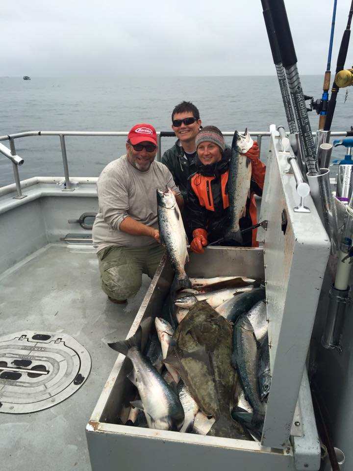 24 halibut/36 silvers and two yellow eye rockfish and a tagg...