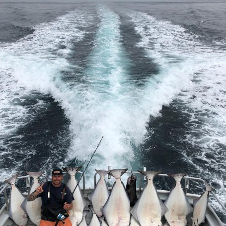 Great on the water with the Crackerjack Voyager!! #halibut #...