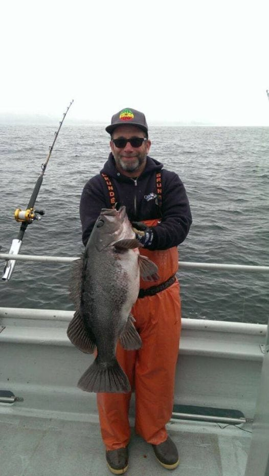 I caught what has to be the largest Black Rockfish I have se...