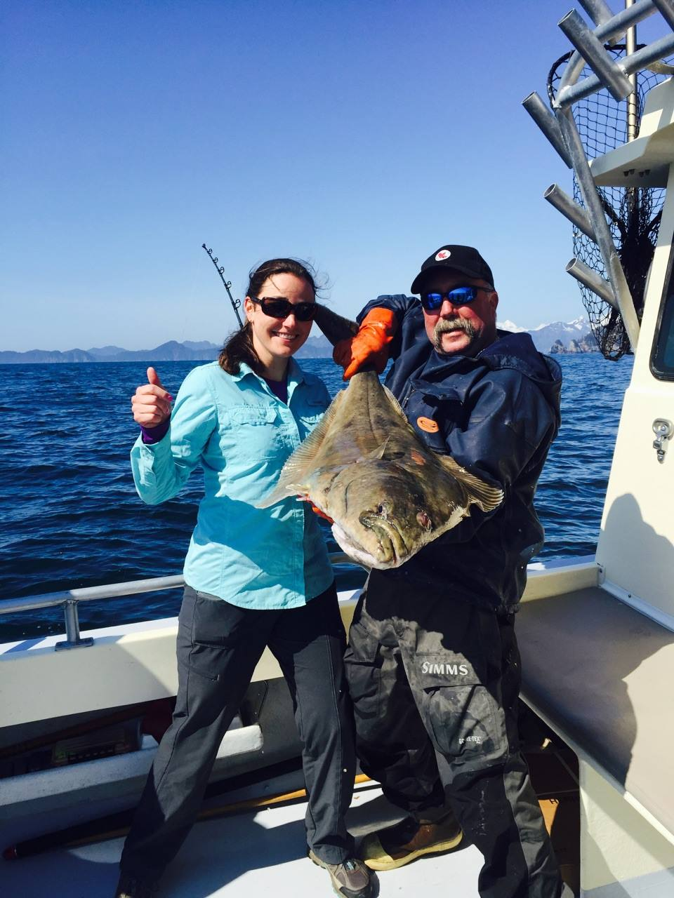 It's a beautiful day in May to catch halibut!...