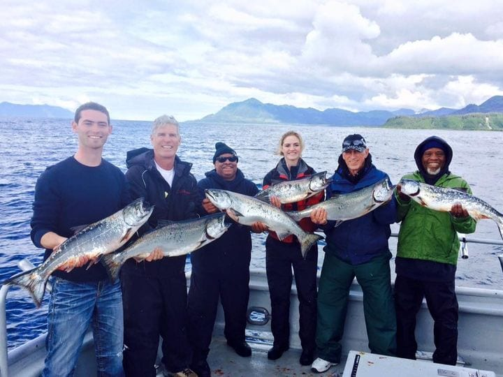 More overnight king salmon action...