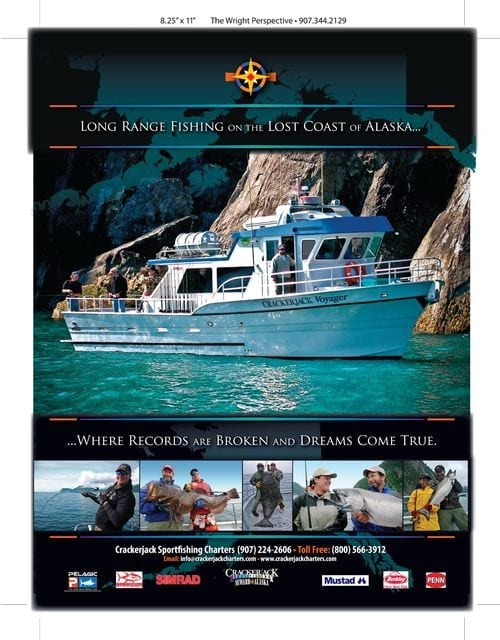 Our full page advertisement in Pacific Coast Sportfishing...