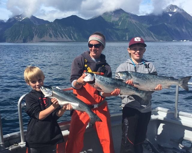 Silver Salmon massacre!!  Great way to end four days of fish...