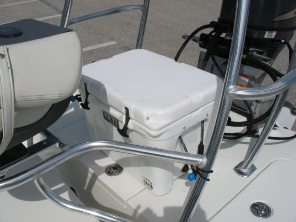 Before SeaDek on the Yeti Cooler and rear deck