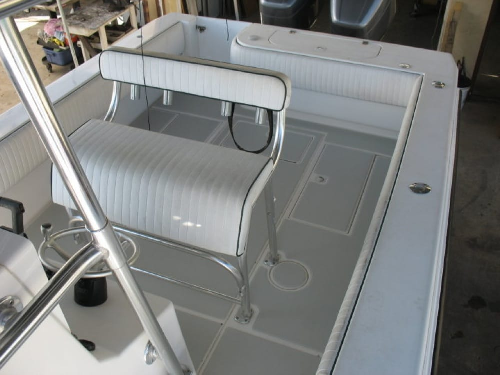 Another view showing the detail of the custom SeaDek