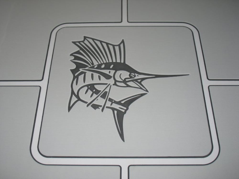 A closer look to show the detail of the logo