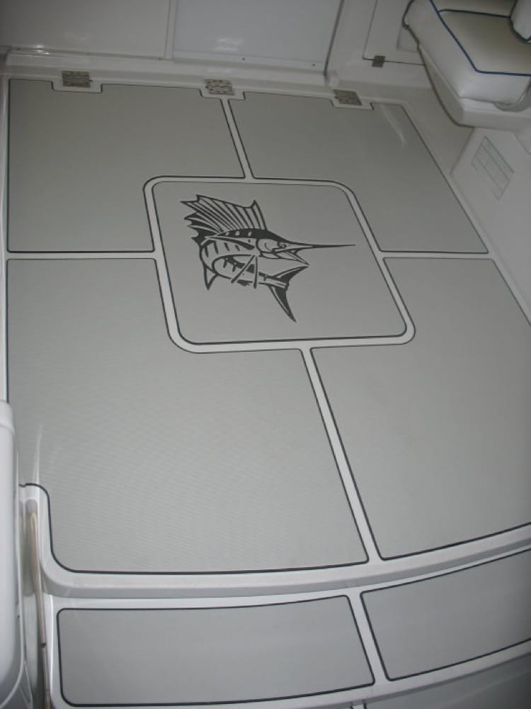 Another angle of the custom pads