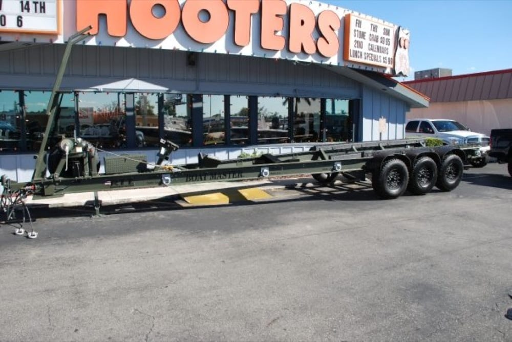 A military trailer built by Boatmaster