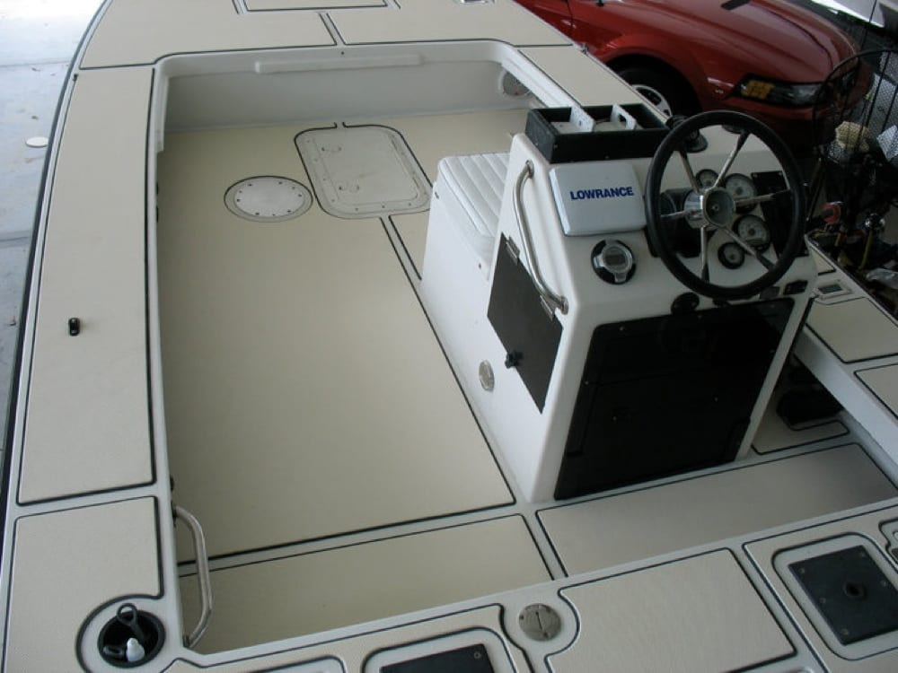 The floor kit helps to quiet the boat down