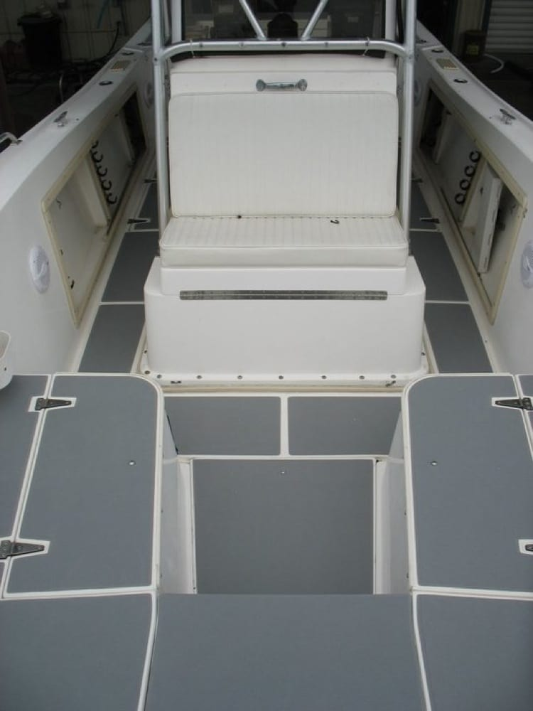 View from the bow to stern