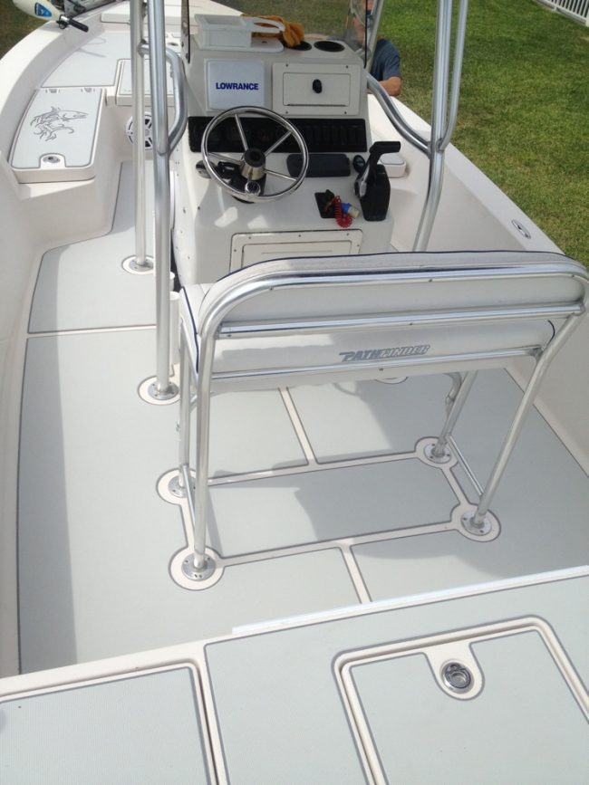Castaway Customs Key West 210 BR Bay Boat Custom SeaDek Marine Flooring