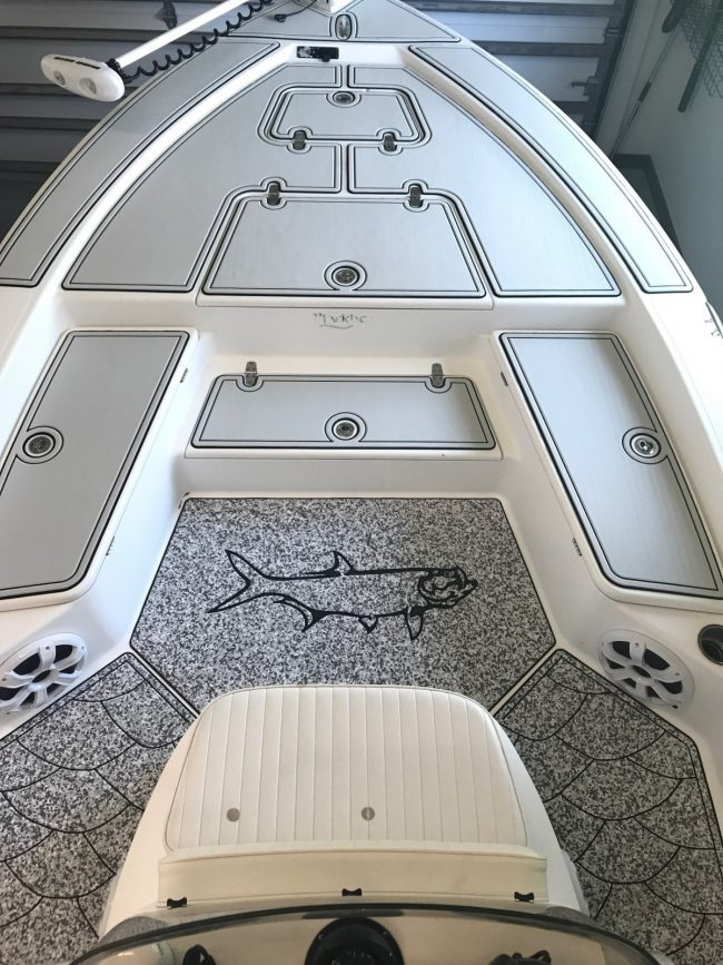 Castaway Customs Blackjack Bay Boat Custom SeaDek Marine Flooring