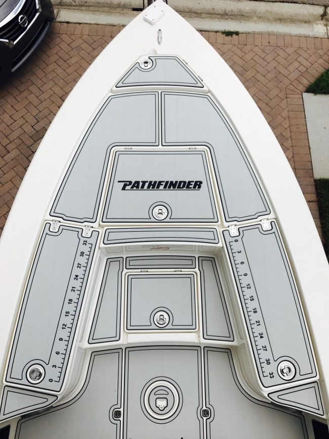 Castaway Customs Pathfinger 2300 Bay Boat Custom SeaDek Marine Flooring