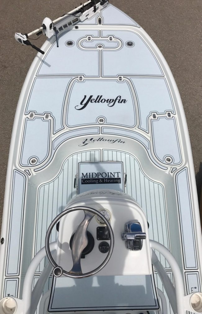 Castaway Customs Yellowfin Yatchs Bay Boat Custom SeaDek Marine Flooring