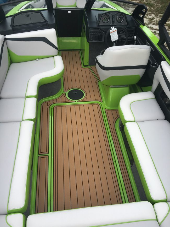 Castaway Customs Malibu Wake Boat Custom SeaDek Marine Flooring