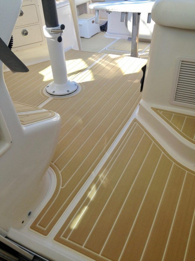 Castaway Customs Grady White Express Boat Custom SeaDek Marine Flooring